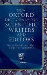 The New Oxford Dictionary for Scientific Writers and Editors