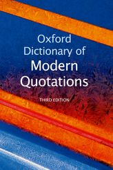 Oxford Dictionary of Modern Quotations$