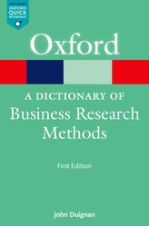 A Dictionary of Business Research Methods