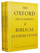 The Oxford Encyclopedia of Biblical Interpretation$