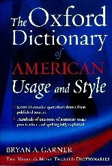 The Oxford Dictionary of American Usage and Style$