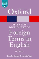 Cover des Oxford Essential Dictionary of Foreign Terms in English